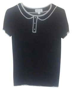 Elle Hipster Cozy Cute Simple Edgy Top Black
