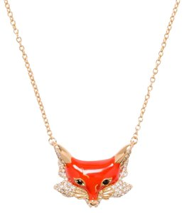 Kate Spade KATE SPADE 12K Gold-Plated 'Into The Woods' Fox Pendant Necklace
