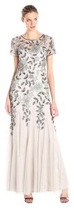 Adrianna Papell Floral Beaded Gown Dress