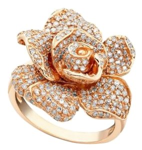 EFFY EFFY Pretty Pave Rose Diamond Ring 14k Rose Gold 1-1/8 ct. t.w. Jewelry