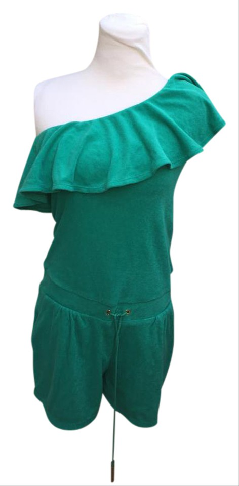 72299a0b4032 Juicy Couture Green Terry Cloth Short Romper Jumpsuit - Tradesy