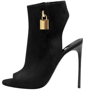 Tom Ford Black Suede Ankle-Lock Boots
