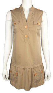 Tibi short dress Khaki on Tradesy