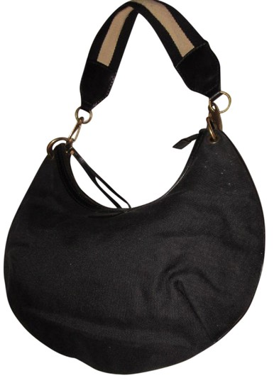 Preload https://img-static.tradesy.com/item/21074555/gucci-vintage-pursesdesigner-purses-black-canvas-and-leather-with-a-tan-and-black-canvas-striped-str-0-1-540-540.jpg
