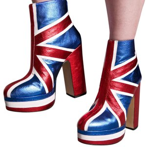 Topshop red, blue Boots