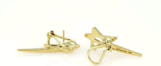 Tiffany & Co. Paloma Picasso 18k Yellow Gold Shooting Star Earrings Image 2