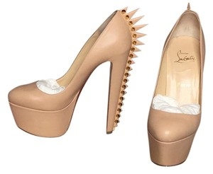 Christian Louboutin Nude/Gold/Red Bottom Platforms