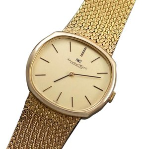 IWC 1974 IWC Vintage Mens Dress Watch with Bracelet, 18K Gold & Stainless