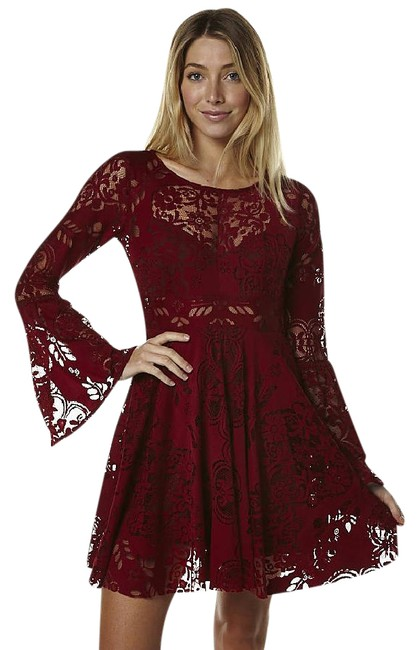 Preload https://img-static.tradesy.com/item/21074913/free-people-cranberry-rich-red-lace-lovers-short-cocktail-dress-size-0-xs-0-1-650-650.jpg
