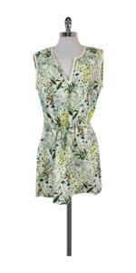 Tory Burch short dress Green Yellow Garden Print on Tradesy