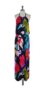 Maxi Dress by Trina Turk Multi Color Maxi Halter