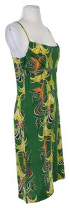 Avanti short dress Green Floral Print Silk on Tradesy