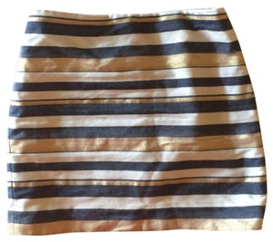 J.Crew Mini Skirt white, blue, gold