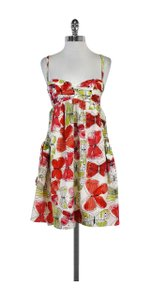 Nanette Lepore short dress Multi Color Butterfly Print Silk on Tradesy