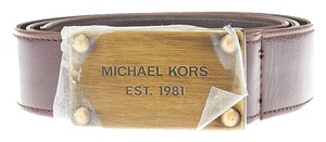 Michael Kors Michael Kors Brown Leather Belt, Size 12 (34970)