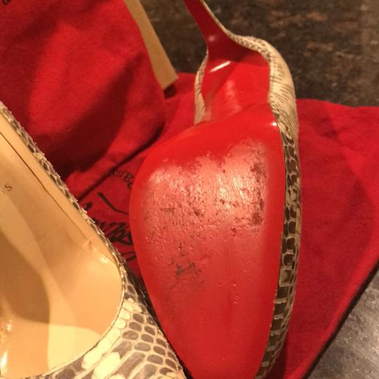 Christian Louboutin cream and grey Pumps Image 2