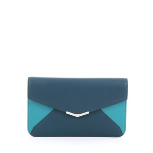Fendi Leather Green Clutch