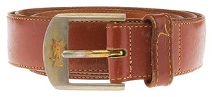 Saint Laurent Yves Saint Laurent Vintage Brown Leather Belt, Size 36 (35732)