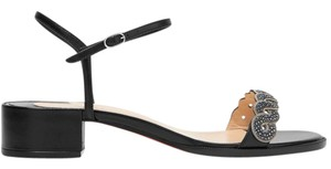 Christian Louboutin Grekoronda 25mm 1 Inch Heel New black Sandals