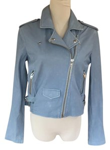 IRO Baby Blue Beach Denim Leather Jacket
