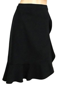 Elie Tahari Ruffle Career Skirt Black