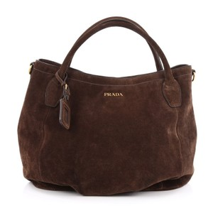 Prada Suede Satchel in Brown