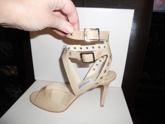 Jimmy Choo Blast Patent Leather Ankle Strap Open Nude Sandals Image 10