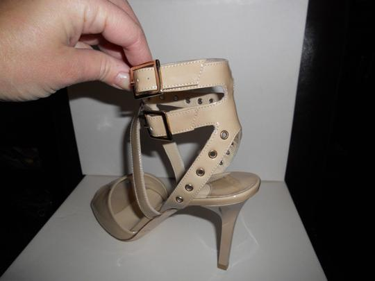 Jimmy Choo Blast Patent Leather Ankle Strap Open Nude Sandals Image 7
