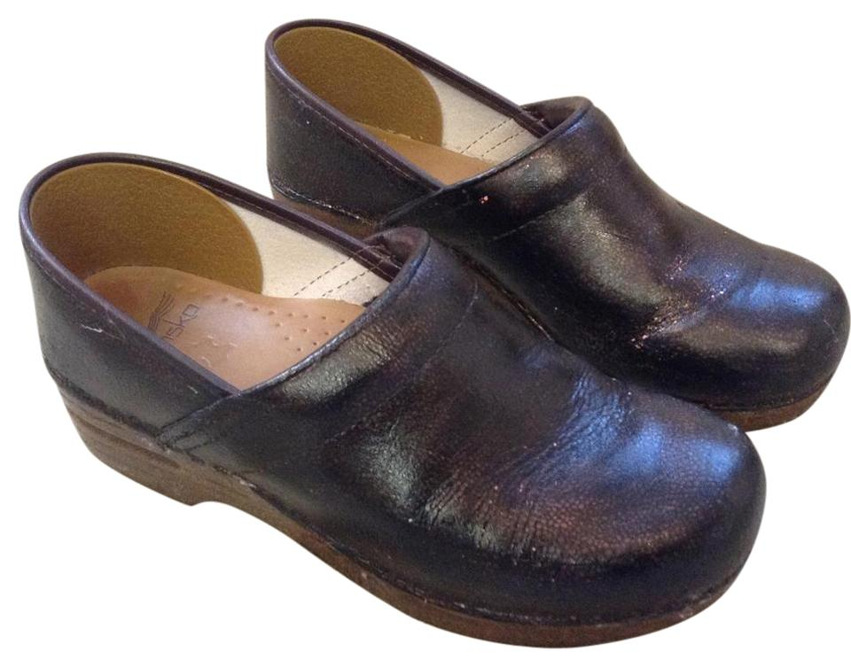 Dansko Leather Aged Brown Professional Leather Dansko Mules/Slides 452385