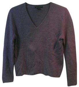 Sarah Spencer V-neck Purple Sweater