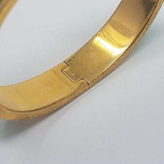 Hermès 18K yellow gold-plated Hermes Narrow Clic Clac H 2011 O Image 4