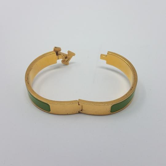 Hermès 18K yellow gold-plated Hermes Narrow Clic Clac H 2011 O Image 8