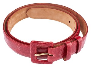 W. Kleinberg W. Kleinberg Red Crocodile Belt, Size 39