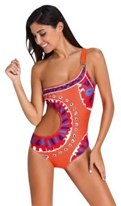 Other Sexy Women Geometric Yucateca One Shoulder Side Cut Out One Piece Swim