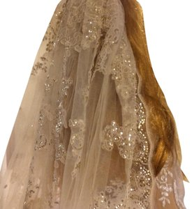 Ivory Long Gold Sequin-lucille 3 Bridal Veil