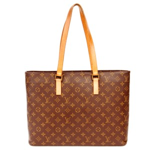 Louis Vuitton Luco Monogram Canvas Leather Tote in Brown