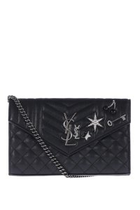 Saint Laurent Ysl Studded Leather Shoulder Bag