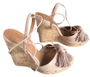 Aquazzura blush Wedges