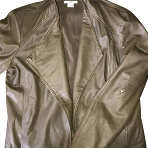 Helmut Lang Army Green/Olive Green Leather Jacket