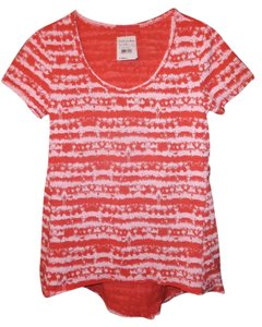 Fresh Produce Striped T Shirt Coral