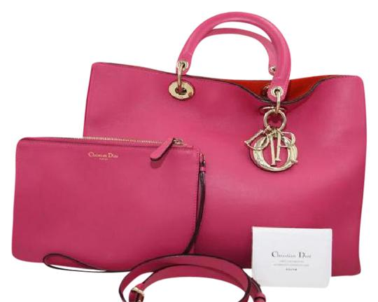 Preload https://img-static.tradesy.com/item/21076129/dior-christian-diorissimo-rose-sorbet-calfskin-leather-shoulder-bag-0-2-540-540.jpg