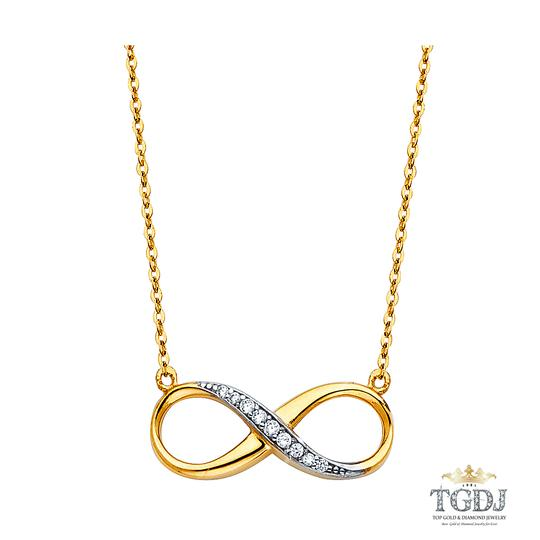 Preload https://img-static.tradesy.com/item/21076148/yellow-gold-14k-cz-infinity-necklace-171-charm-0-0-540-540.jpg