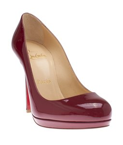 Christian Louboutin Patent Leather Burgundy Pumps