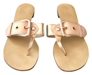 Giuseppe Zanotti Rose gold and natural Sandals