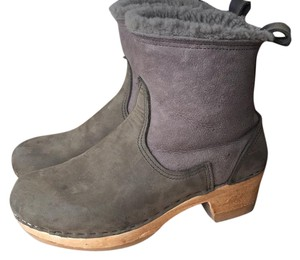 No. 6 clog boots dark green Mules