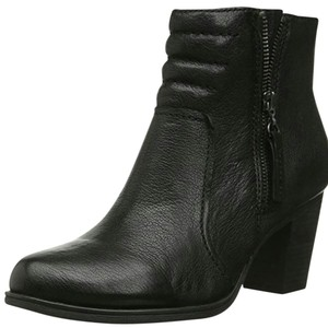 Clarks Leather Leather Black Black Zip Ankle Ankle Boots