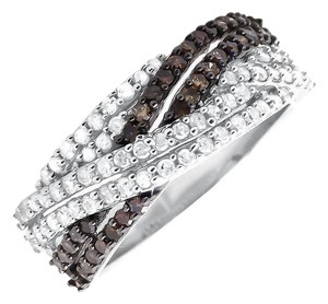 Other Genuine Diamond Criss Cross Fashion Engagement Band Ring (1ct)