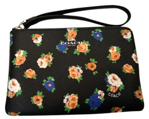 Coach NEW COACH rose floral phone card bag mini wallet Small Wristlet