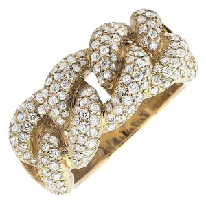 Other Miami Cuban Link Style Genuine VS Diamond Statement Ring 1.50ct.