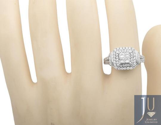 Other Invisible Princess Square Halo Diamond Engagement Ring 2.10ct. Image 1